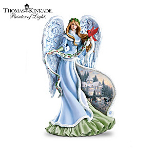 thomas kinkade illuminated christmas angel figurines - Christmas Angel Figurines