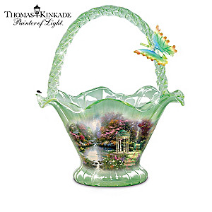 Thomas Kinkade Hand-Blown Art Glass Bowl Collection: 7-1/2""