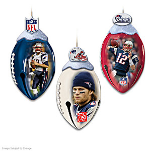 NFL Licensed New England Patriots Jingle Bell Ornaments