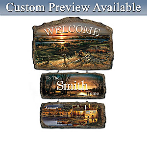 Terry Redlin Seasonal Art Personalized Welcome Sign