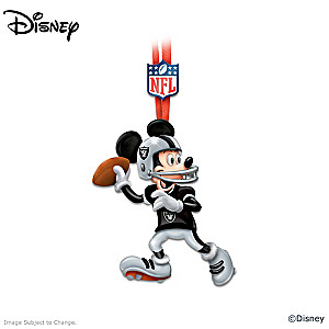 Oakland Raiders Disney Character Ornament Collection
