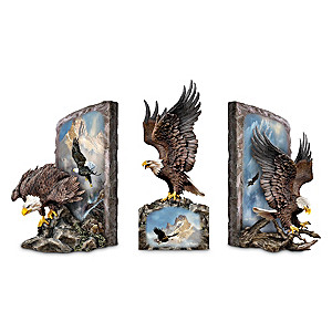 Majestic Eagle Bookends Collection With Ted Blaylock Artwork