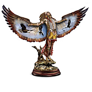 Ted Blaylock Cold-Cast Bronze Eagle Spirit Seeker Sculptures