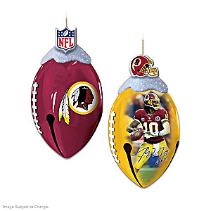 NFL-Licensed Washington Redskins Jingle Bell Ornaments