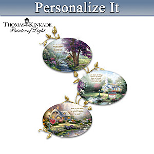 Thomas Kinkade Art Personalized Collector Plate Collection