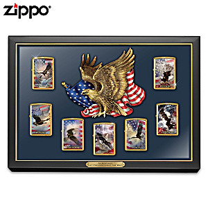 Ted Blaylock Patriotic Art Zippo® Lighters With Display