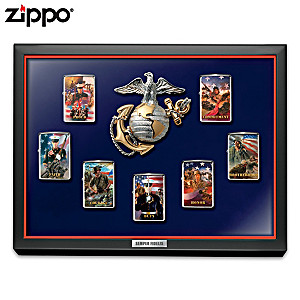 Jim Griffin USMC Zippo® Lighter Collection With Display