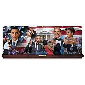 Barack And Michelle Obama Panorama Plates Honor Milestones