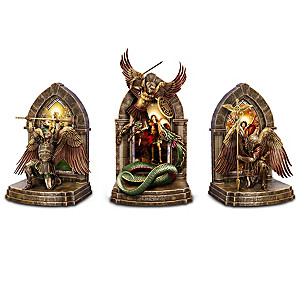 """""""The Power And The Glory"""" Cold-Cast Bronze Legacy Bookends"""