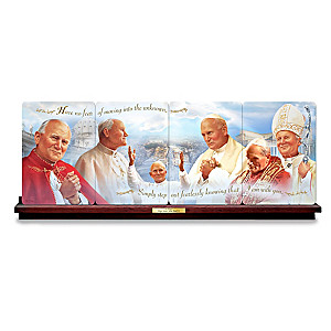 Pope Saint John Paul II Panorama Collector Plate Collection