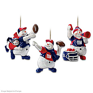 Officially Licensed New York Giants Snowman Ornaments