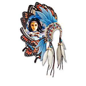 "Robin Koni ""Butterfly Dreams"" Headdress Wall Sculptures"