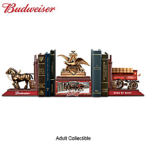 """Budweiser Legacy"" Cold-Cast Bronze Bookends Collection"