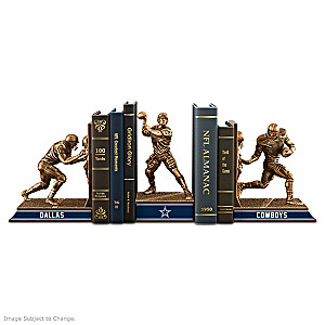 Dallas Cowboys Sculptural Bookends In Cold-Cast Bronze