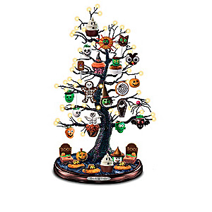 Lighted Halloween Tabletop Tree Collection With Recipe Cards
