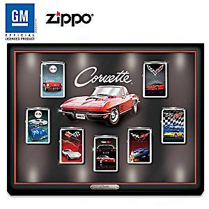 Corvette® Art Zippo® Collection With Custom Display