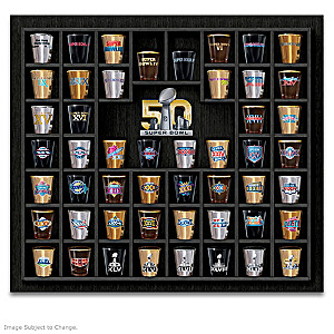 NFL-Licensed Super Bowl Shot Glass Collection