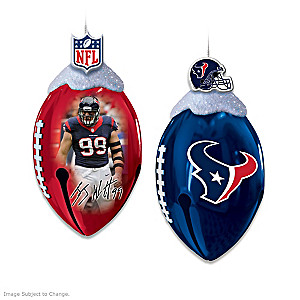 Officially Licensed Houston Texans Football Ornaments