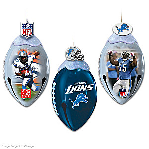 Officially Licensed Detroit Lions Football Ornaments