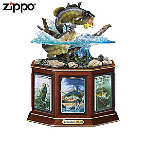 Al Agnew Bass Fishing Art Zippo® Collection With Display