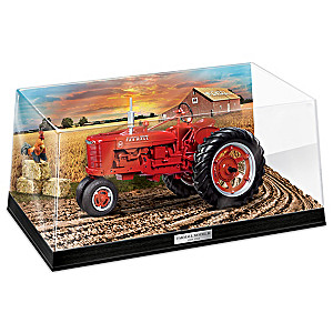 Farmall Heritage Tractor Sculpture Collection With Display