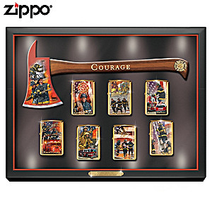 Firefighter Art Zippo® Collection With Lighted Display