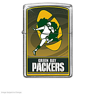 Green Bay Packers Zippo® Collection With Lighted Display