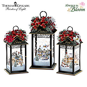 Thomas Kinkade Illuminated Holiday Centerpiece Collection