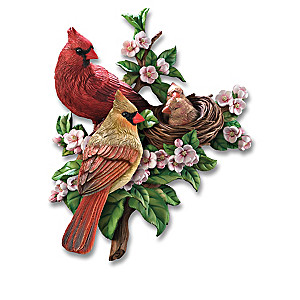 """Spring Awakenings"" Songbird Wall Decor Sculpture Collection"