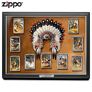 Frank McCarthy Art Zippo® Collection With Custom Display