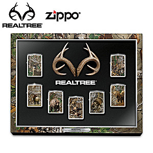 Realtree® Camo Zippo® Lighter Collection And Display