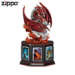 Dragon Art Zippo® Collection With Lighted Dragon Display