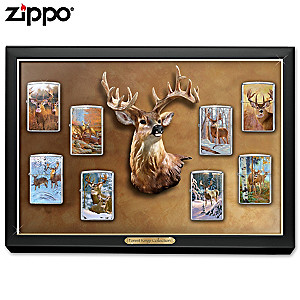 Forest Kings Zippo® Lighter Collection With Display Case