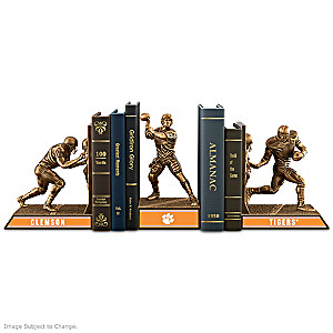 Clemson Tigers Sculptural Bookends In Cold-Cast Bronze