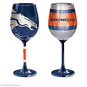 Denver Broncos Wine Glass Collection