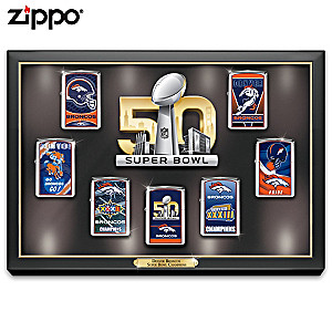 Broncos Super Bowl 50 Zippo® Lighters With Display