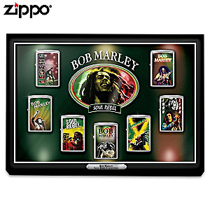 Bob Marley Zippo® Lighter Collection With Custom Display