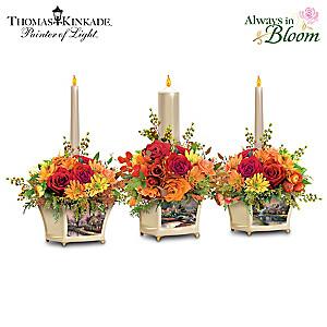 Thomas Kinkade Lighted Autumn Candle Centerpiece Collection