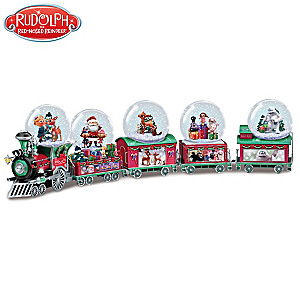 """Rudolph """"Holiday Express"""" Musical Snowglobe Collection"""
