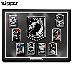 POW MIA Zippo® Collection With Illuminated Display Case