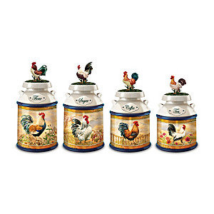 "Dona Gelsinger ""Country Morning"" Kitchen Canister Collection"