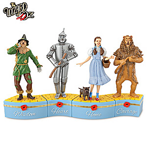 """""""We're Off To See The Wizard"""" Porcelain Music Box Collection"""