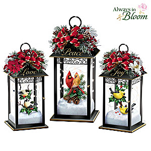 """Nature's Glory"" Songbird Lighted Lantern Collection"