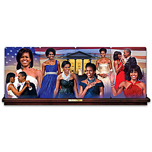 Michelle Obama First Lady Fashions Collector Plate Panorama