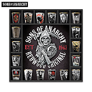 Sons Of Anarchy Shot Glass Collection With Display Case