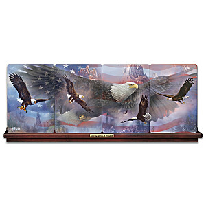 Ted Blaylock Patriotic Eagle Art Panorama Plate Collection