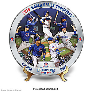 Chicago Cubs World Series Commemorative Plate Collection