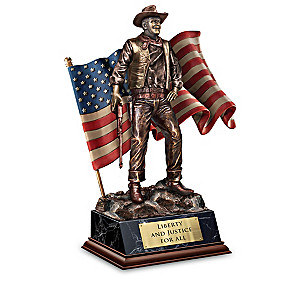 """John Wayne: American"" Cold-Cast Bronze Sculpture Collection"