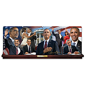 Barack Obama Panorama Collector Plate Collection