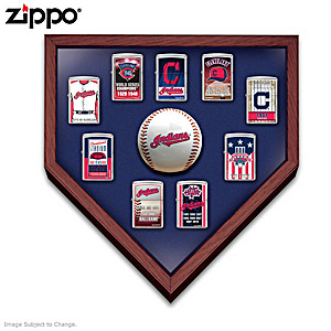 Cleveland Indians™ Zippo® Lighters With Display